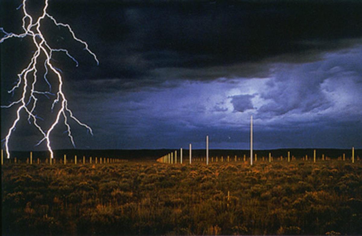 """The Lightning Field"" by Walter De Maria"