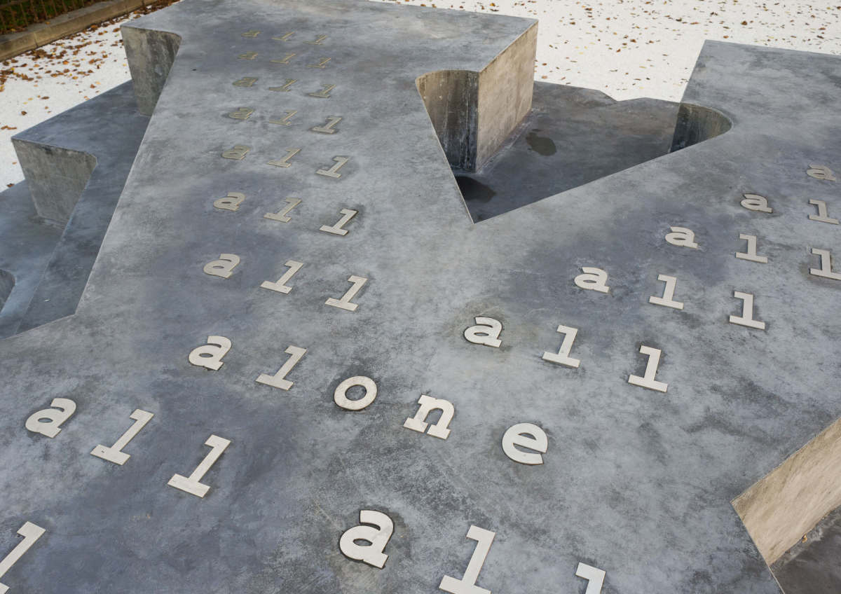 """""""Memorial for the Victims of Nazi Military Justice"""" by Olaf Nicolai"""