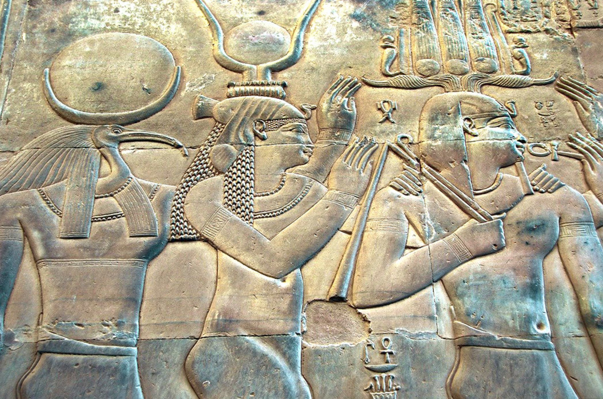 Isis (in the middle) is one of the most worshiped gods of healing in ancient Middle Eastern faiths.