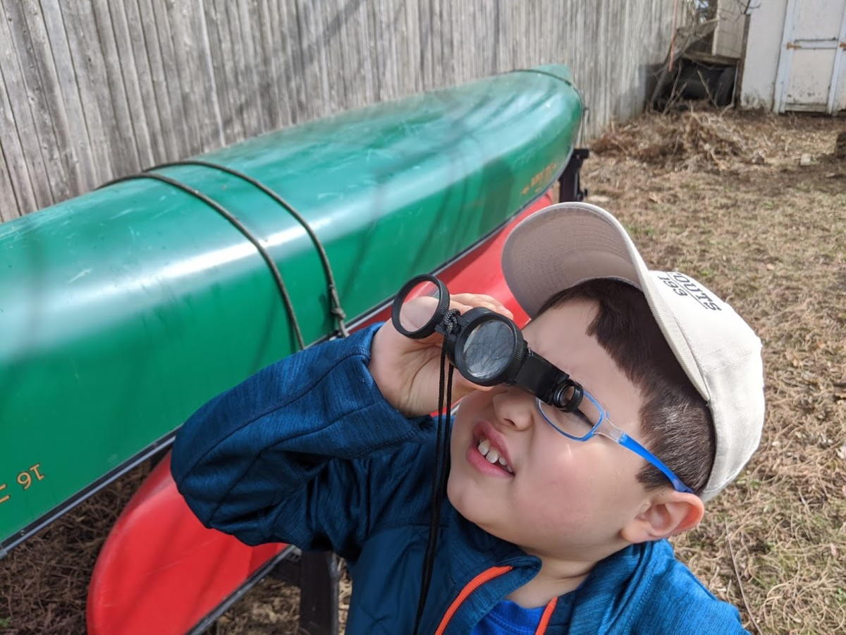 Pick up a pair of binoculars to enhance nature learning activities.