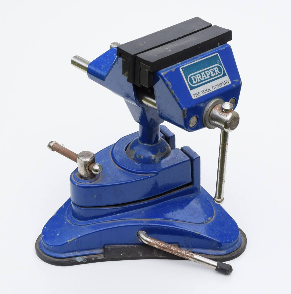 A small vice like this one is useful for holding components such as connectors when soldering. This vice has a suction base to hold it securely onto a smooth surface like a countertop.