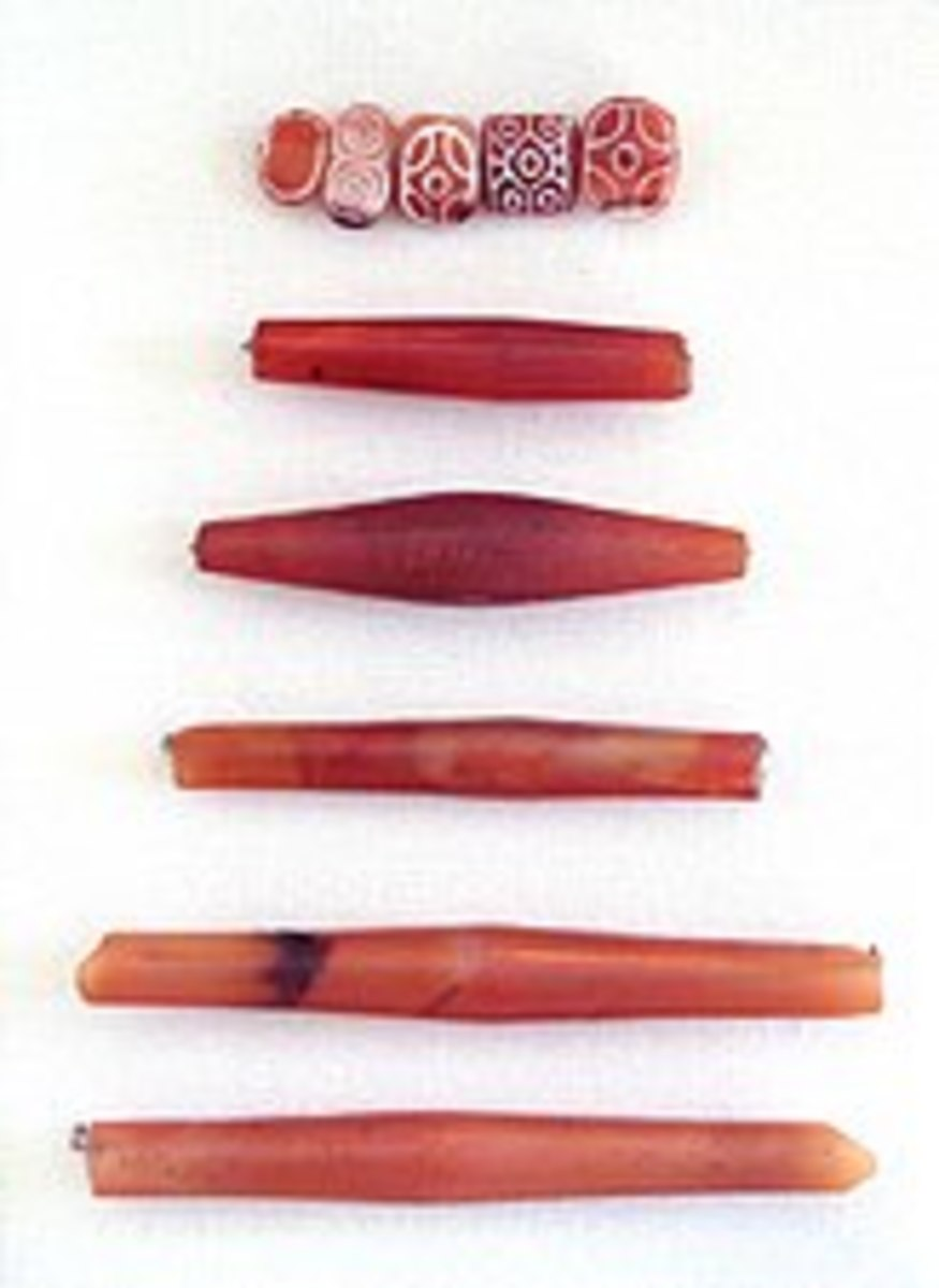 Carnelian beads from the Indus Valley Civilization