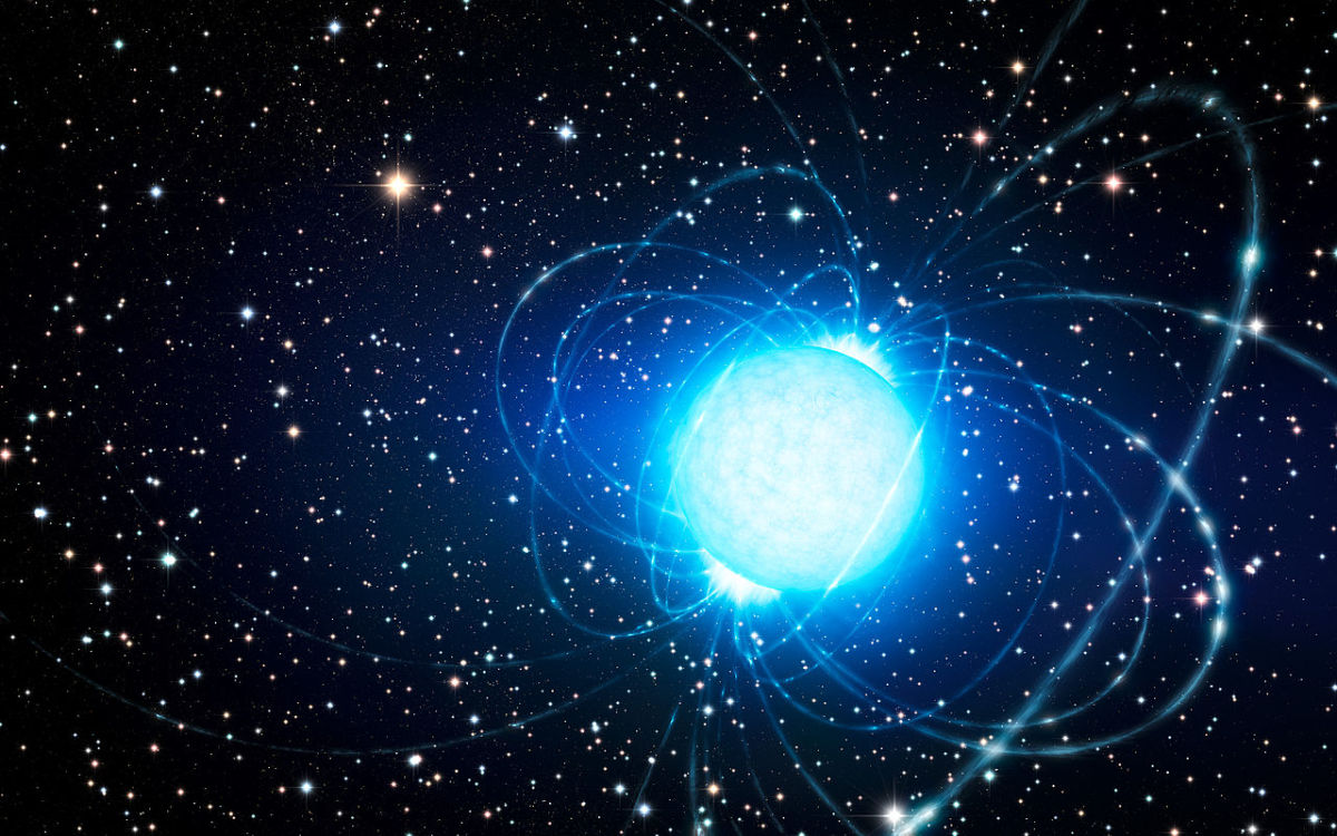 Artist's depiction of a Magnetar; the strangest object known to currently exist in our universe.