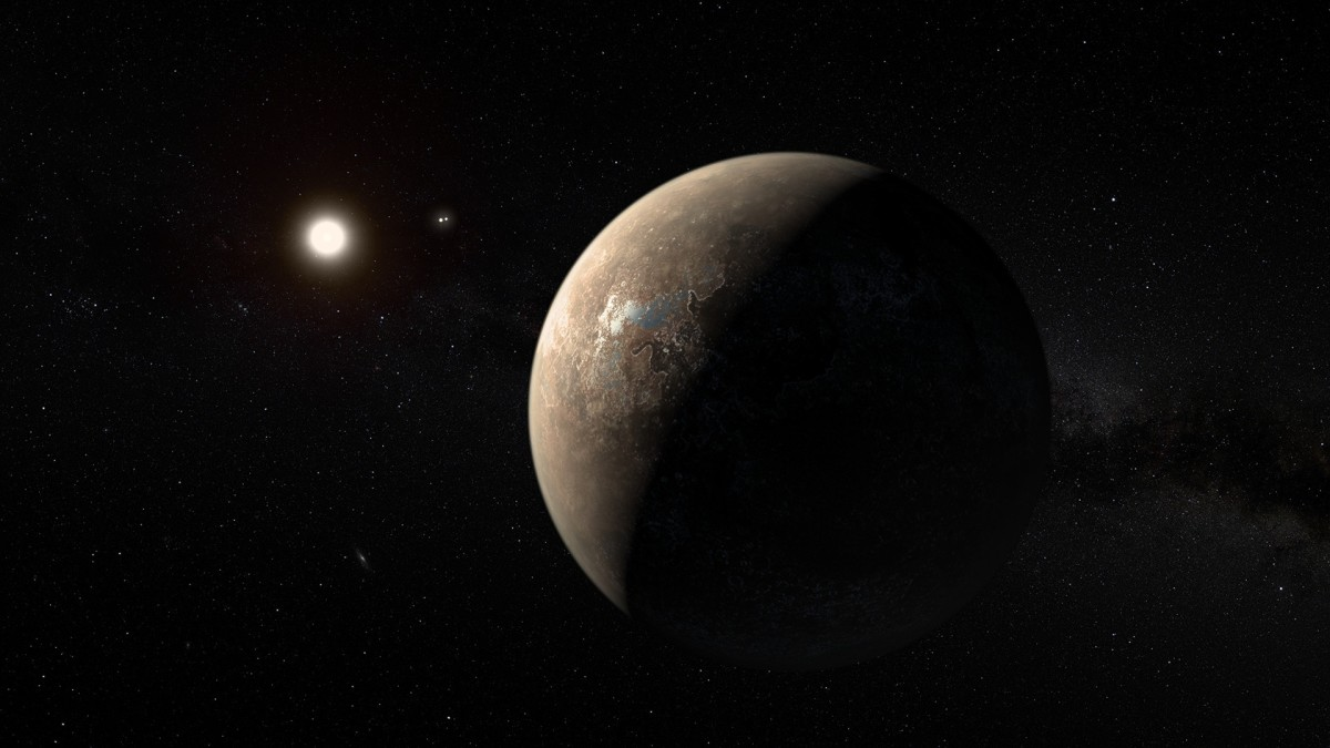 Artist's rendition of Proxima Centauri b (the closest known Exoplanet to Earth).