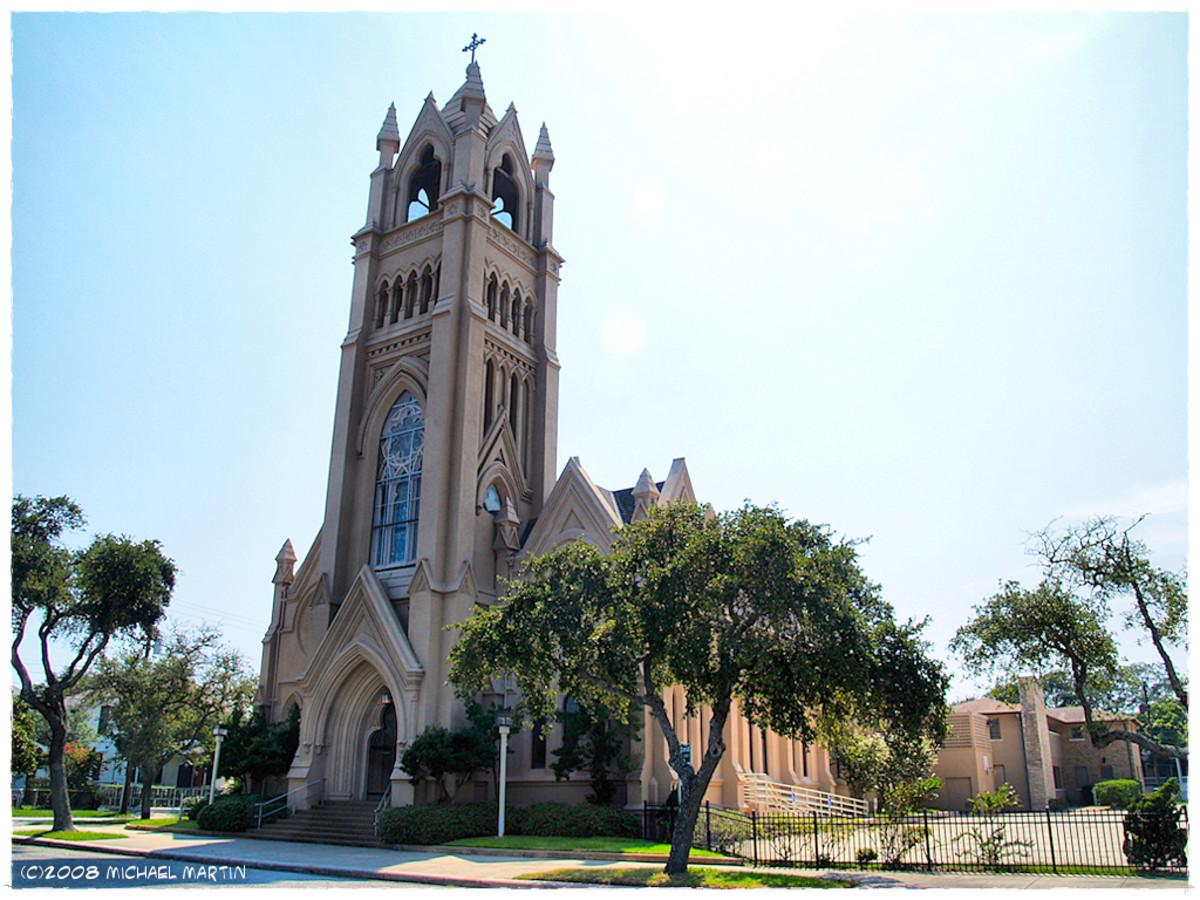 Exterior of St. Patrick's in Galveston