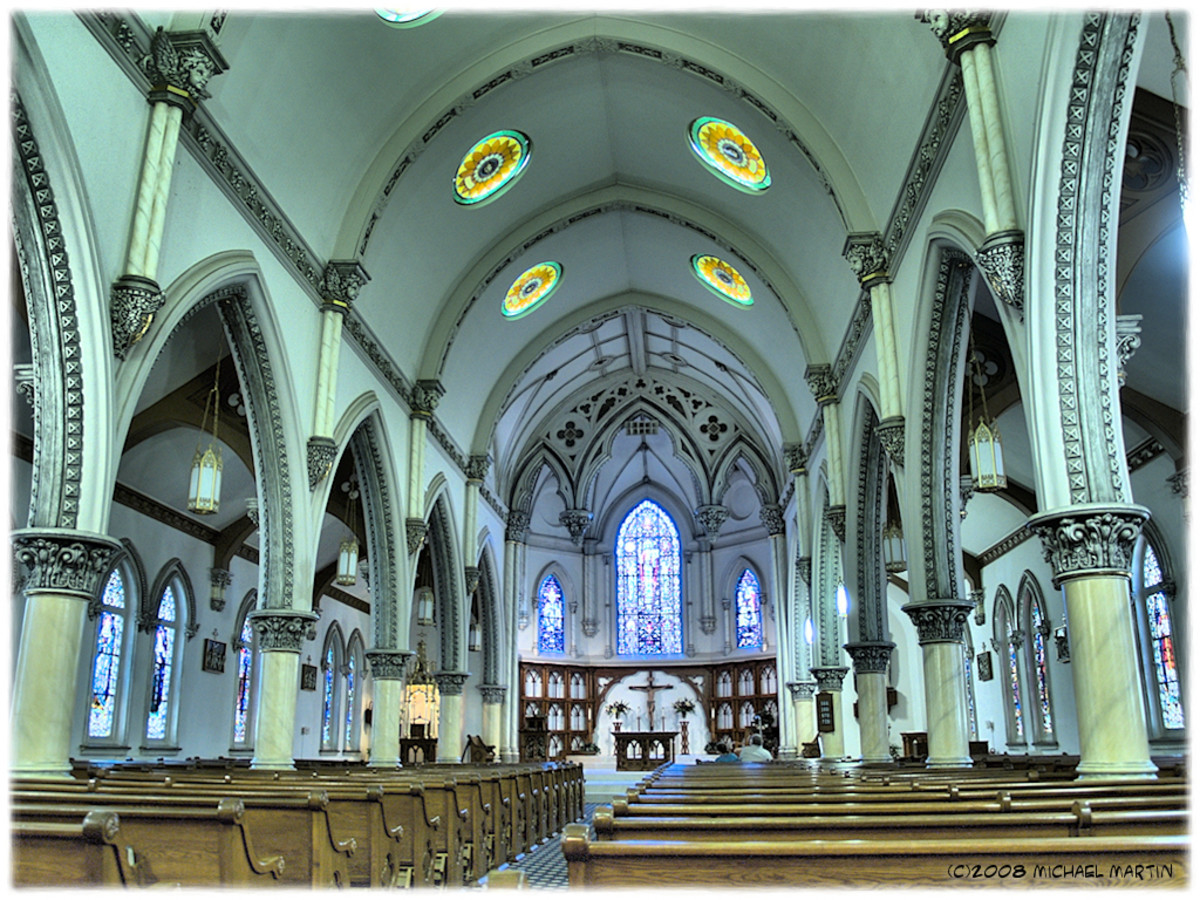 Interior of St. Patrick's in Galveston