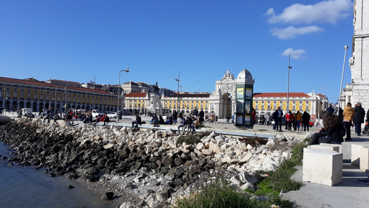 Praça do Comercio. Built where the boats would dock back in the 15- 1600's.
