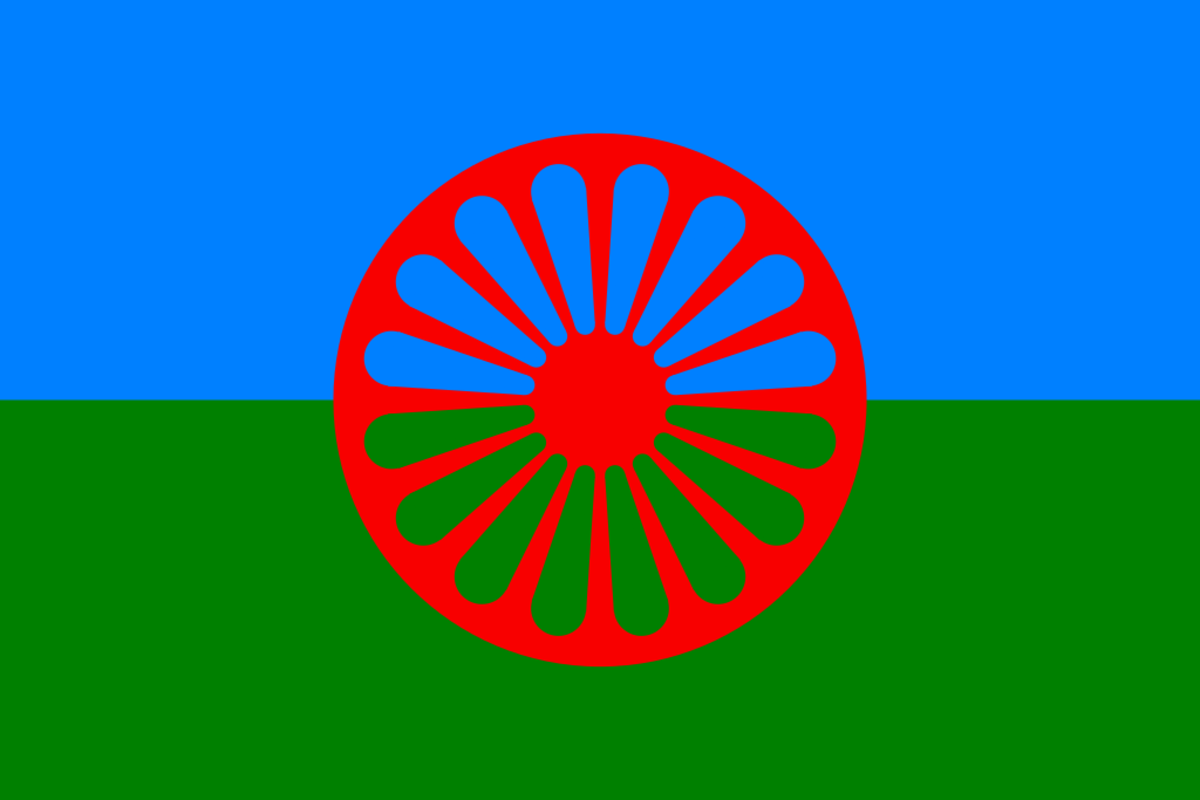Flag of the Romani people also adopted by the Doms.