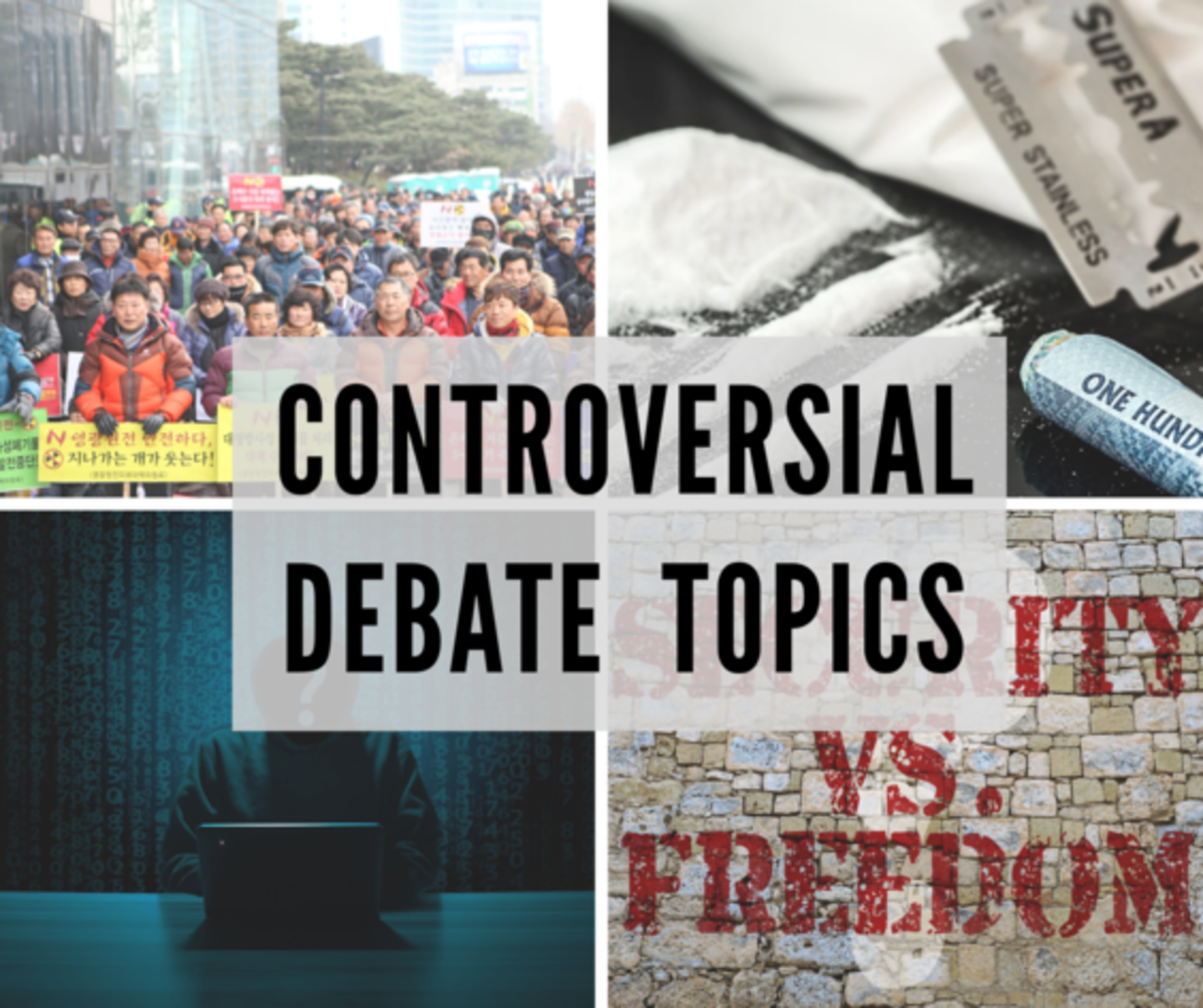 Controversial topics are the toughest to debate about. These topics are suitable for college students and higher level debaters.