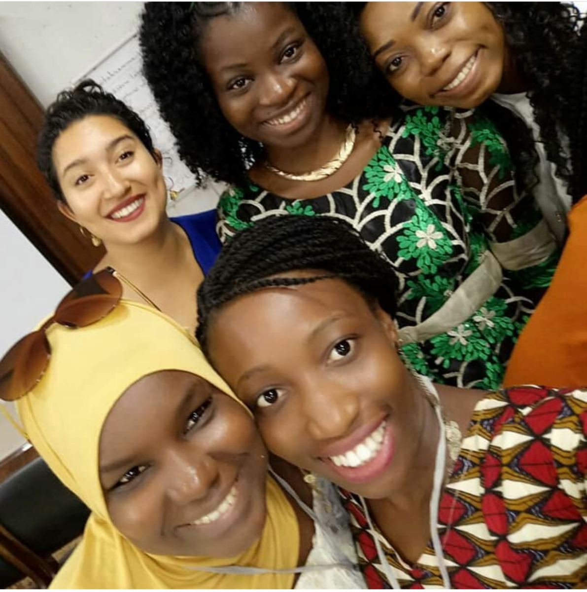 Africa's beauty is in its diversity. In this photo, we represent Tunisia, Cameroon, Nigeria, the Gambia, and Togo, respectively.