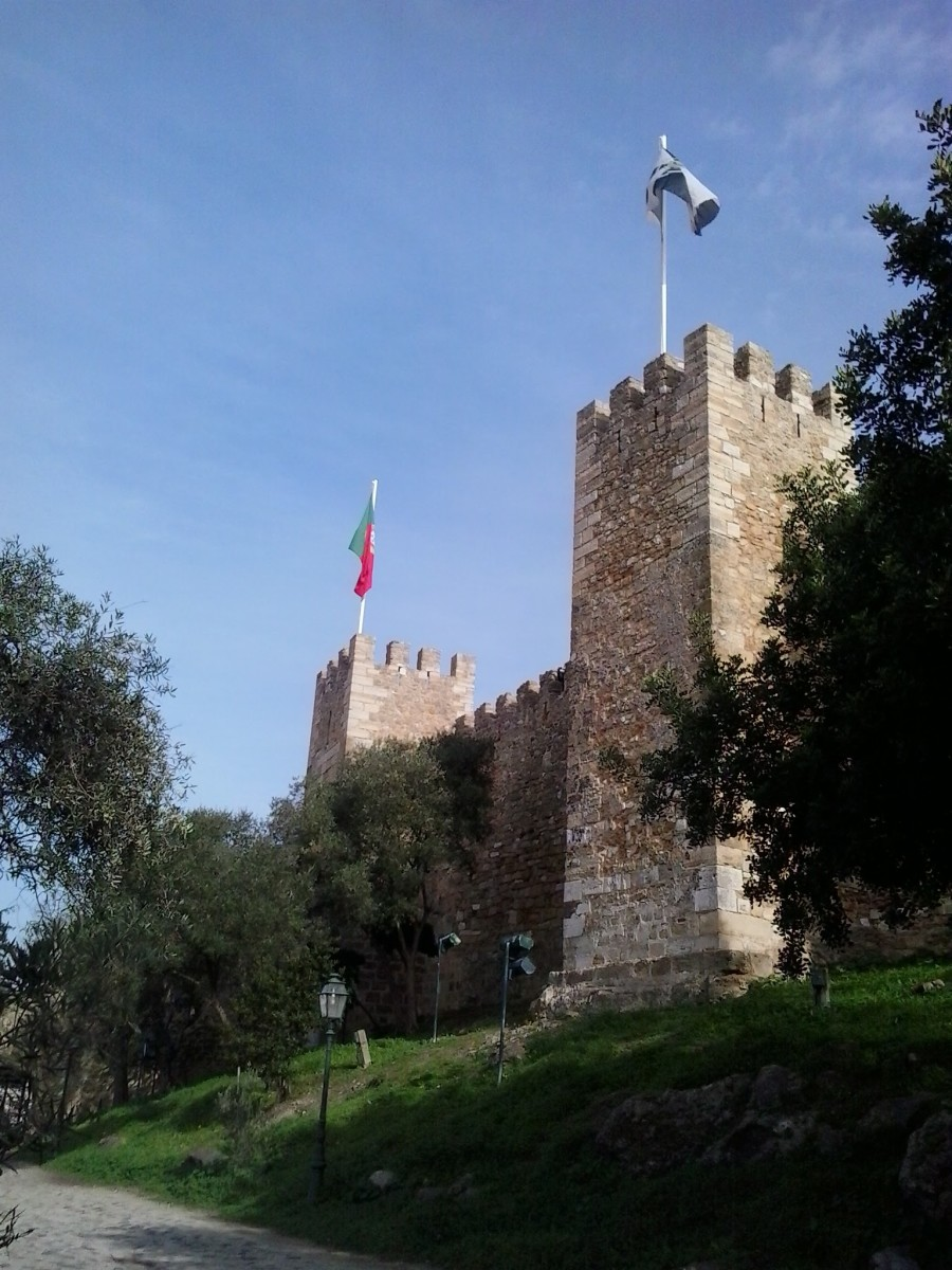 Castle of St George. Phillipa's home in Lisbon.