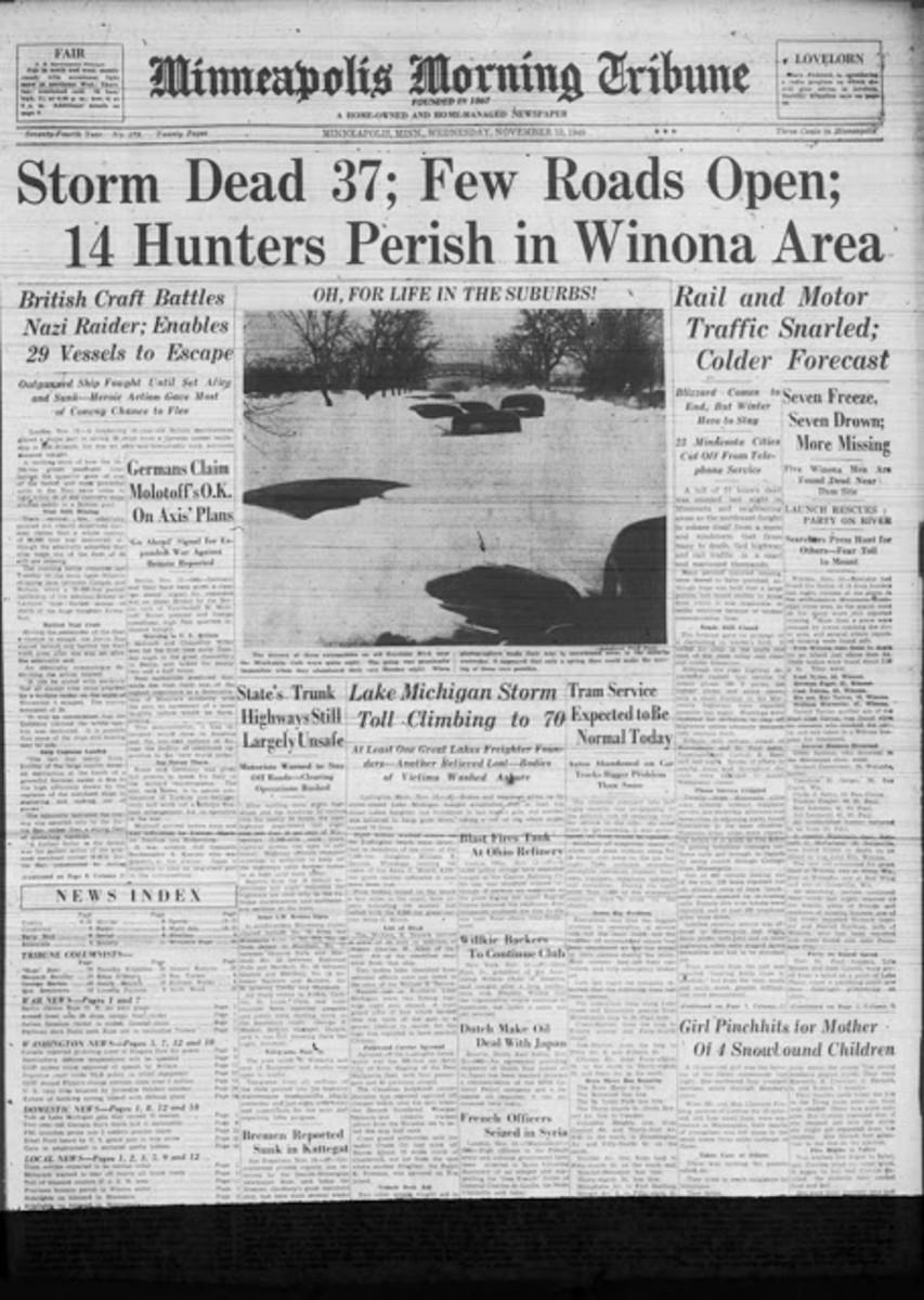 Casualties of the Armistice Storm—Minneapolis Tribune