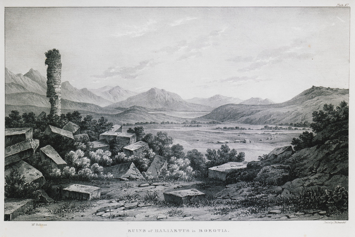 An 19th Century illustration of some ruins at Haliartus.