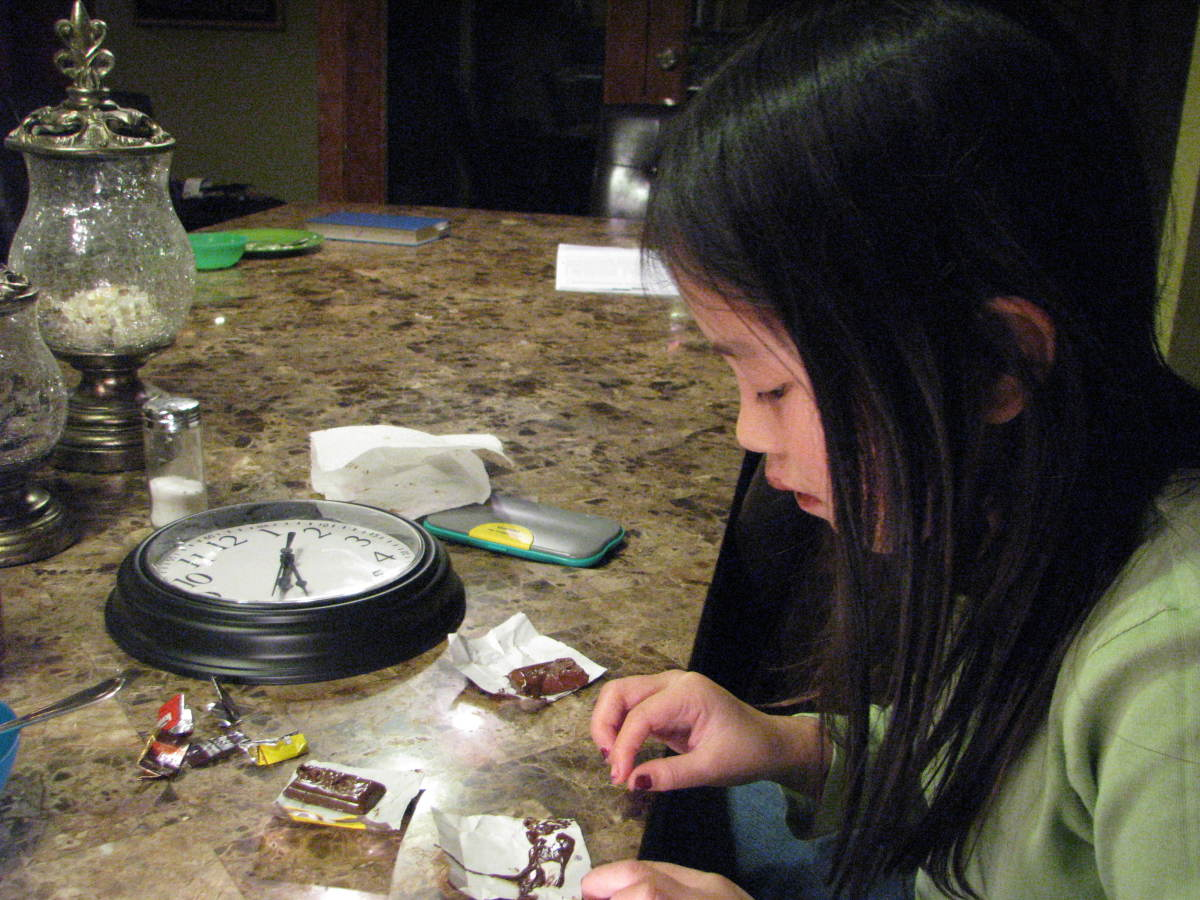 Step 4: Make a tally of how many minutes it takes for each candy to melt.