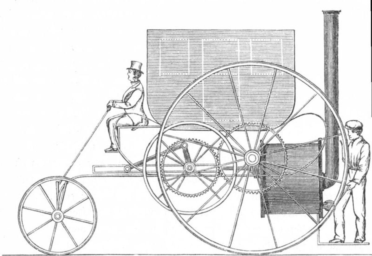 The London Steam Carriage built by Trevithick in 1803.