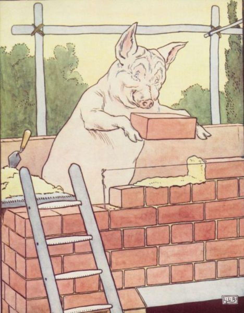 "Another illustration by L. Leslie Brooke.  ""Hard work pays off."""