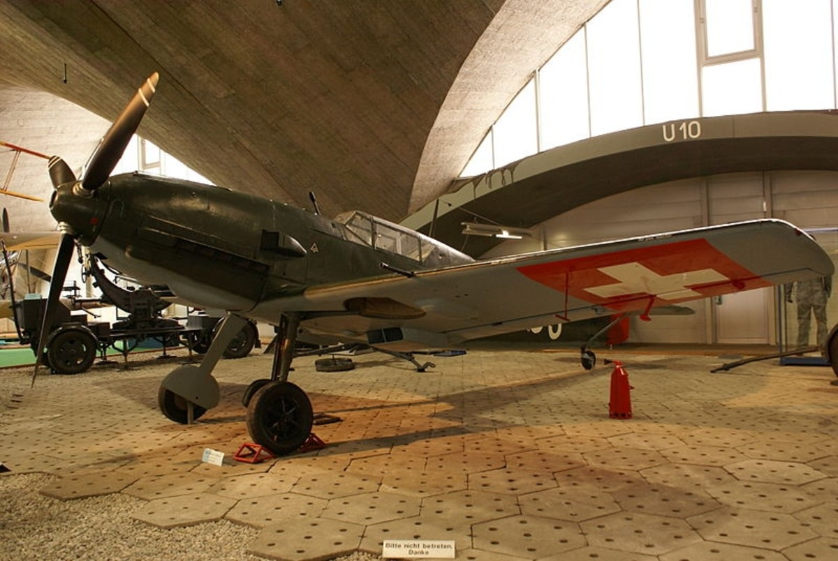 WW2: Messerschmitt Bf 109 E-3 (Me 109) fighter aircraft as used by the Swiss Air Force, 1939-1948.