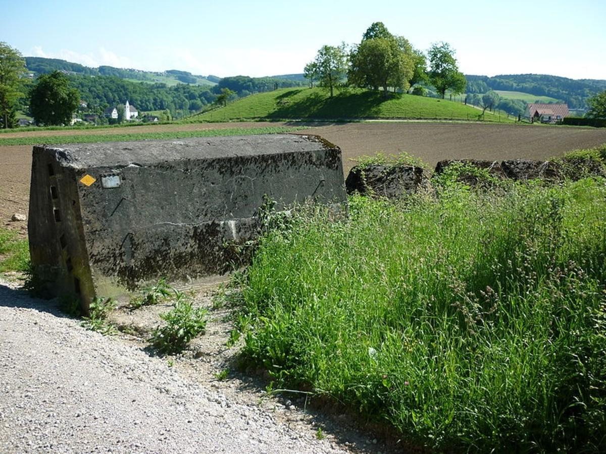 WWII: Anti-tank obstacle, Birmensdorf ZH, Switzerland