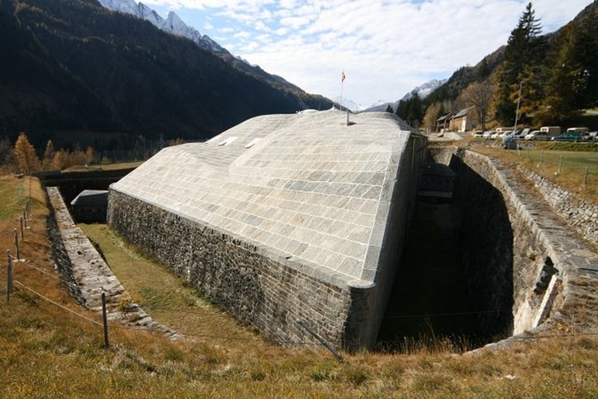 Fort Airolo, built circa 1890. Part of the National Redoubt fortresses.