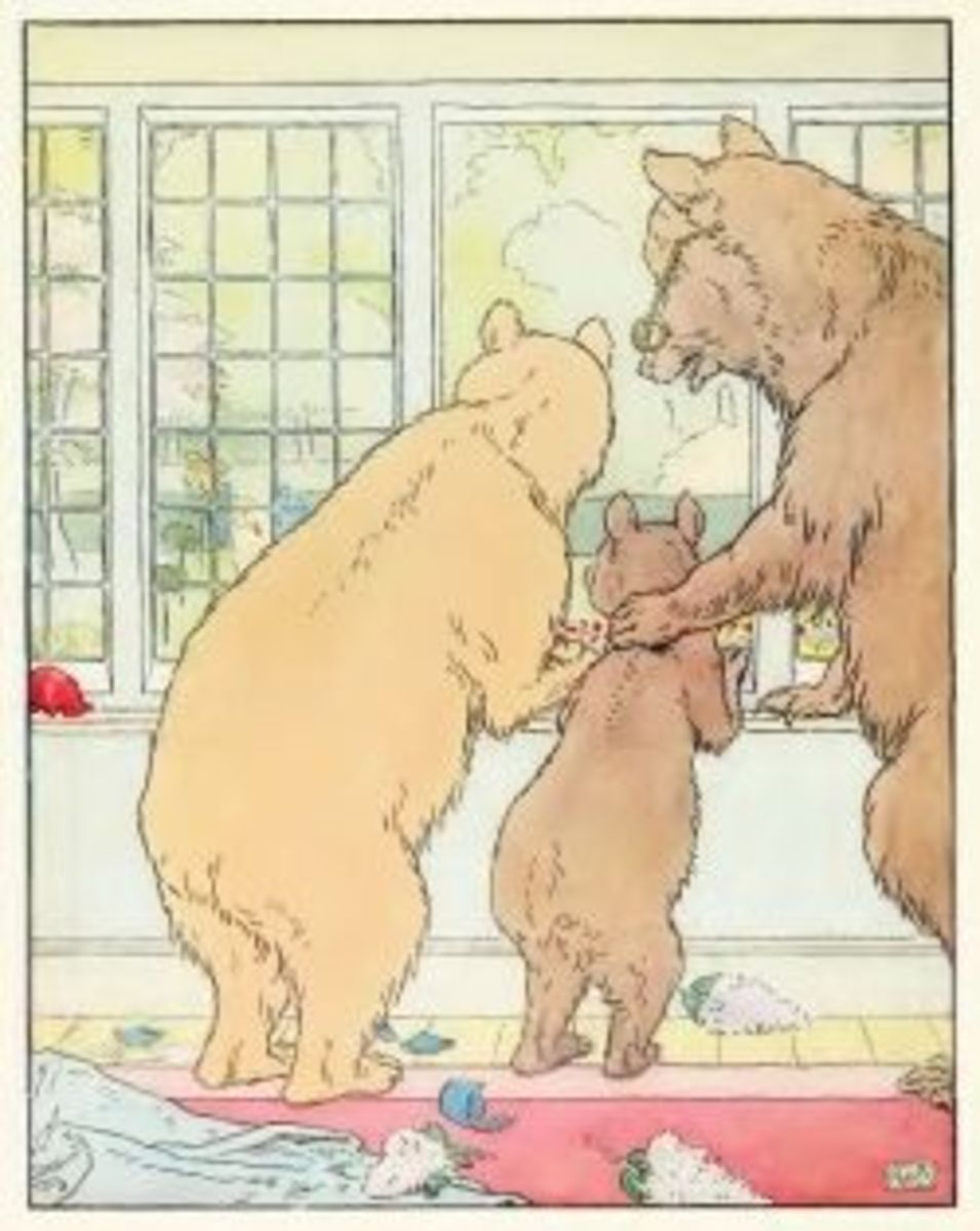 Three bears by Leonard Leslie Brooke