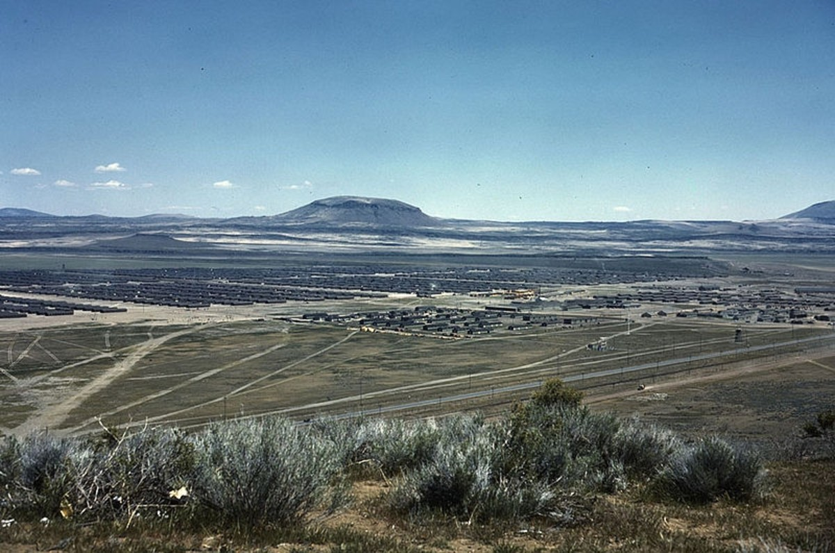"WWII: Tule Lake Internment Camp (AKA ""Relocation Center"") circa 1943."