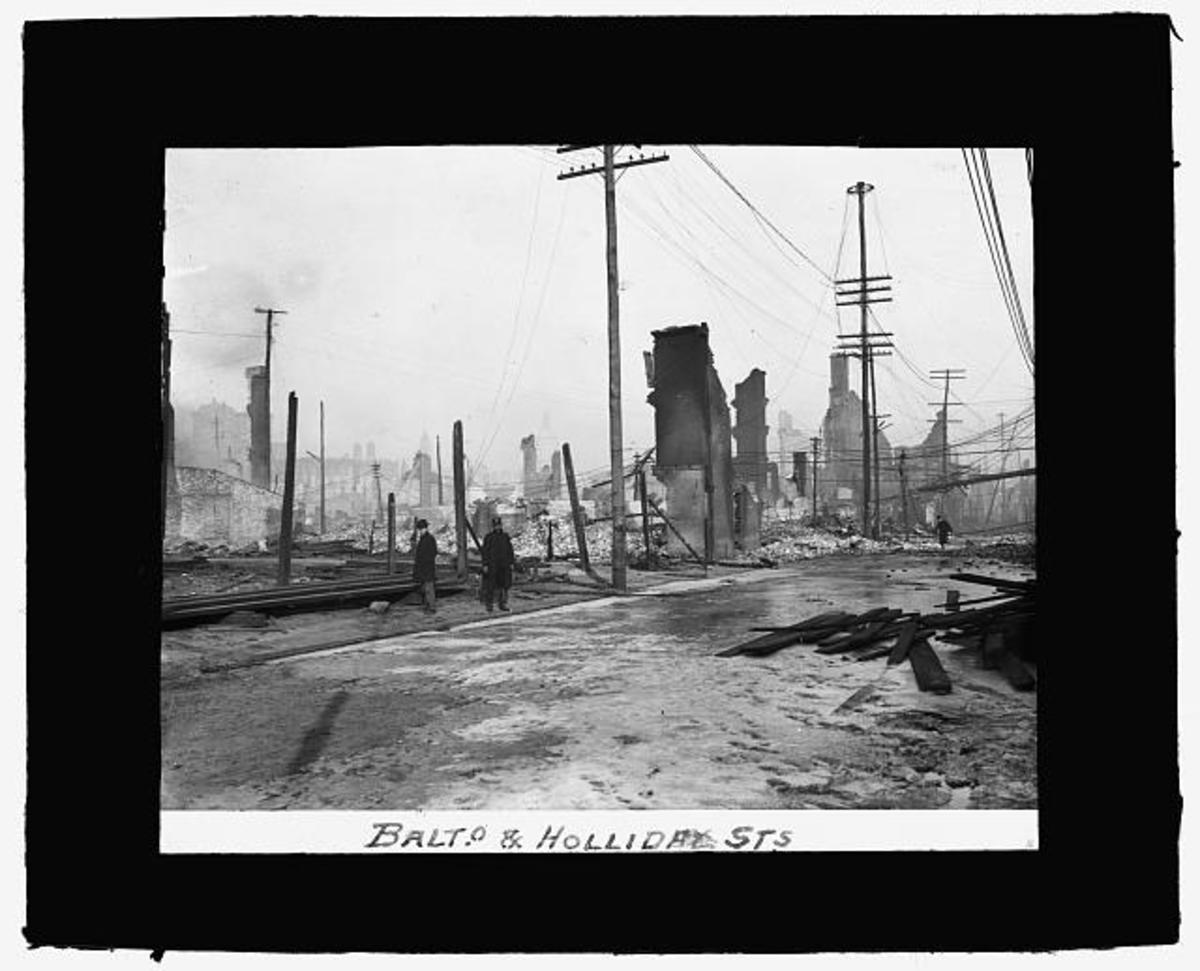 Baltimore and Holliday Street after the Fire