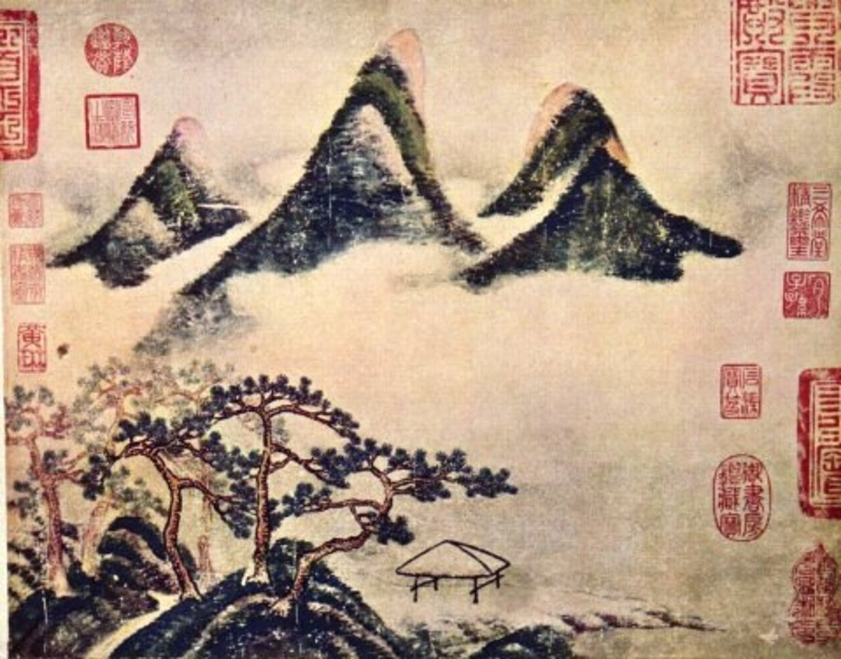 """Mountain and Pines in Spring"" by Mi Fei (1051-1107)."