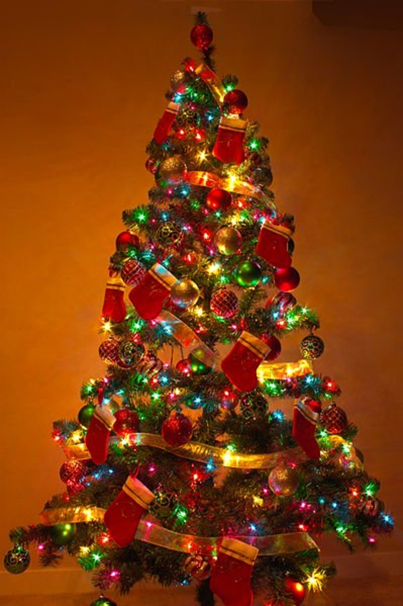 A Christmas tree in its full glory.