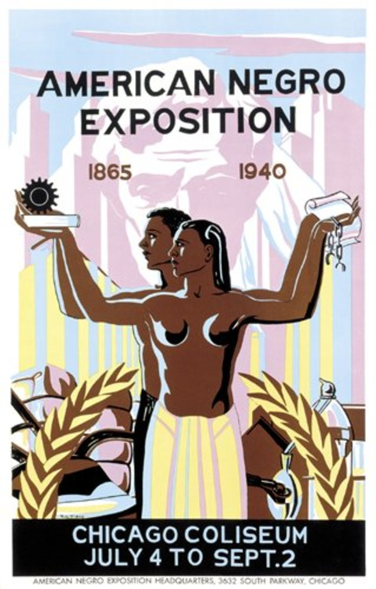 Poster advertising the American Negro Exposition of 1940.