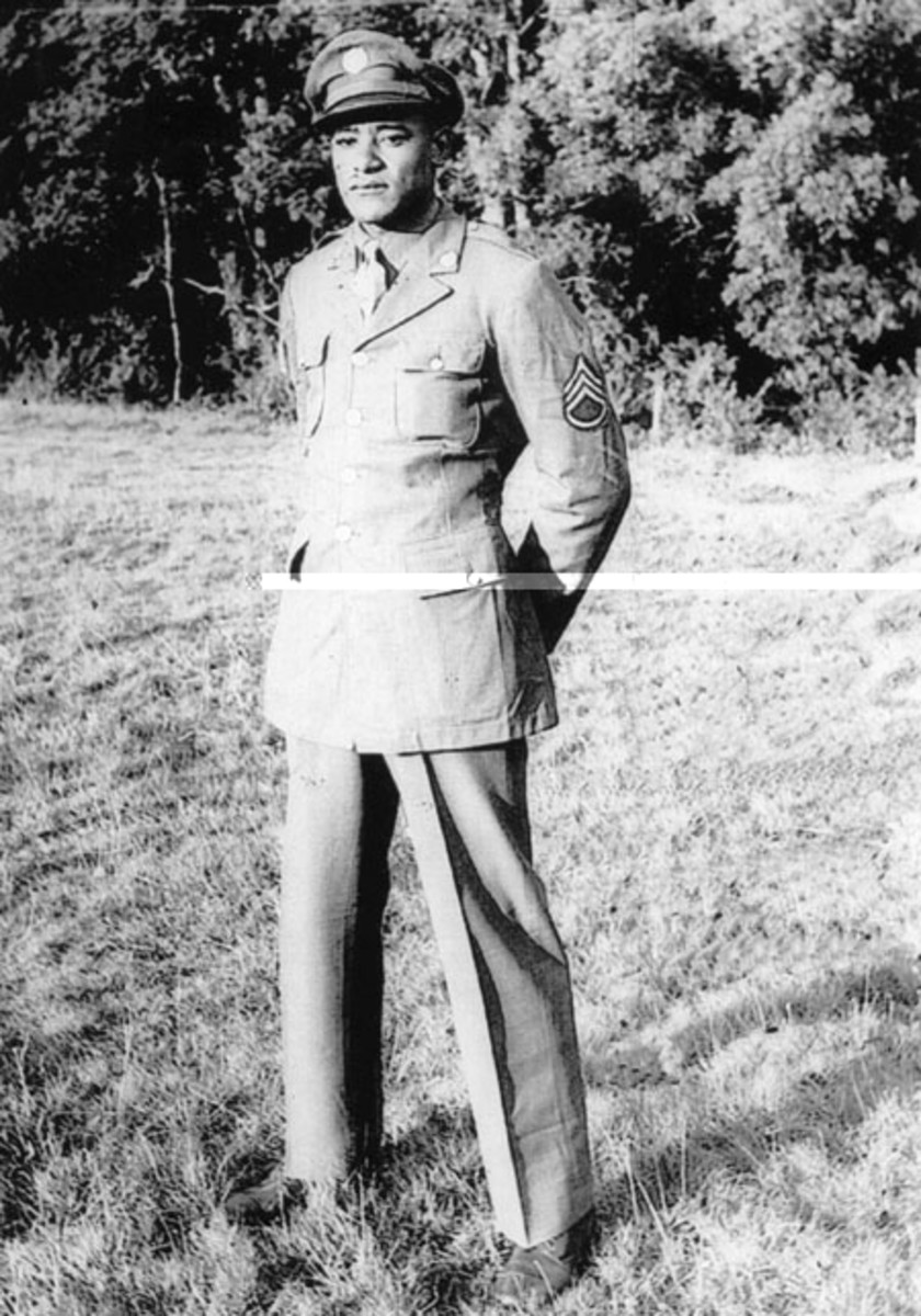Staff Sergeant Ruben Rivers (1921 - November 19, 1944). Fifty-three years after his death, he was finally honored with the Medal of Honor.