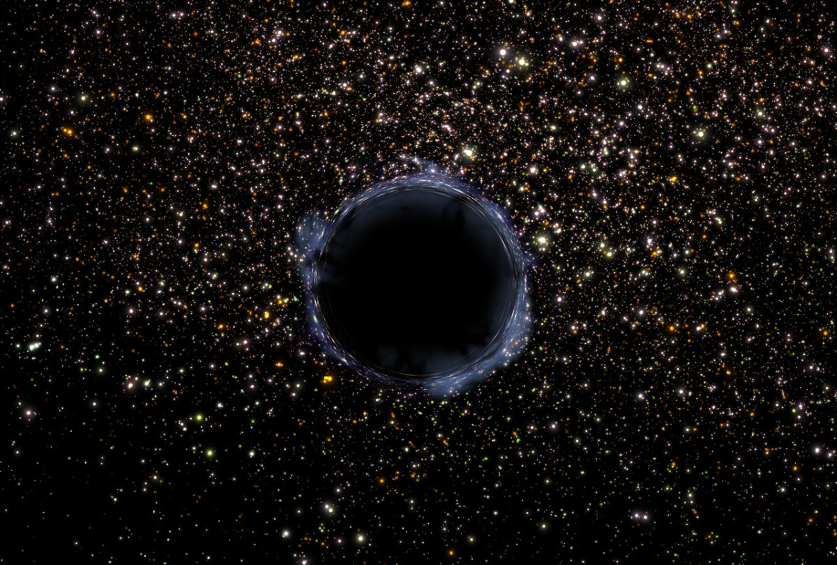 Black hole in the universe.