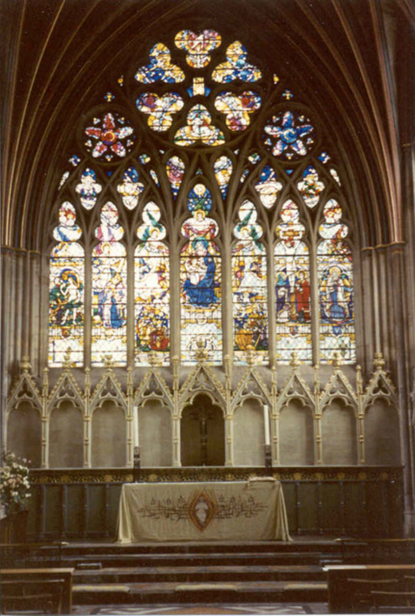 Another beautiful window in Exeter Cathedral, where HMS Exeter is constantly remembered