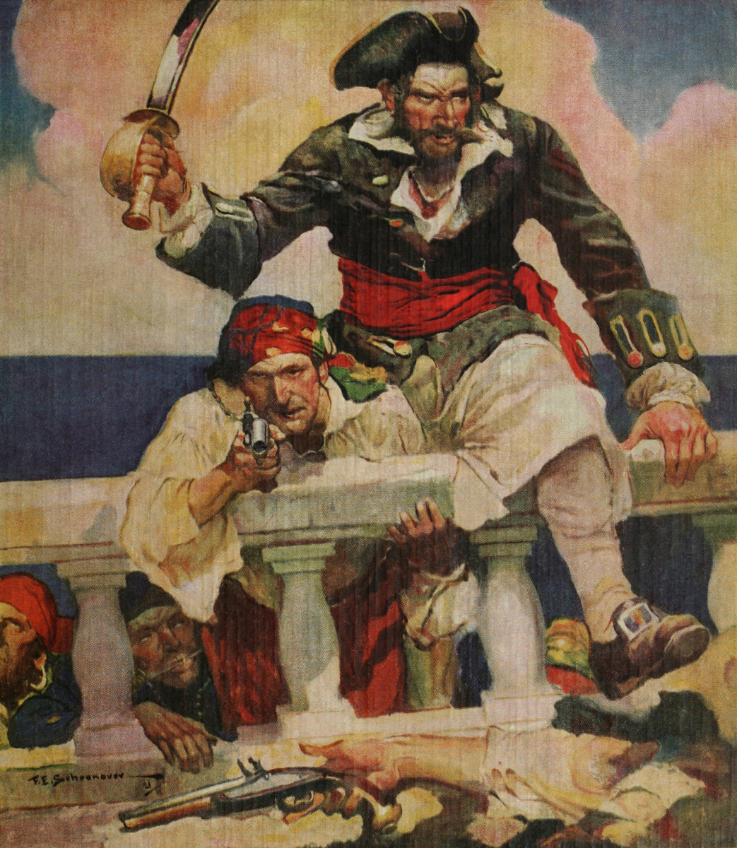 Blackbeard used many scare tactics when hopping aboard a ship, which would cause so much fear that few put up a fight.