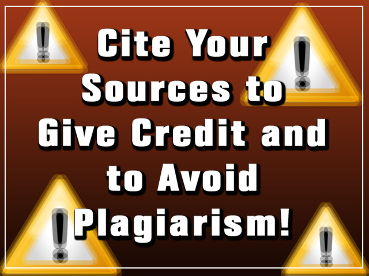 Cite your sources...or else