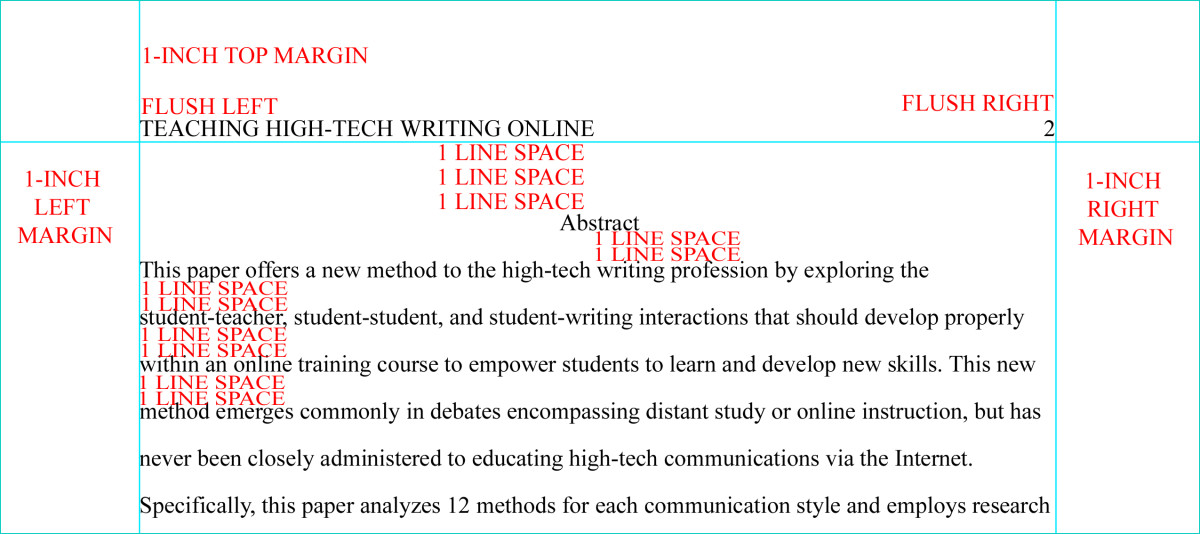 Format the abstract page in apa style 6th edition owlcation for Apa abstract page template