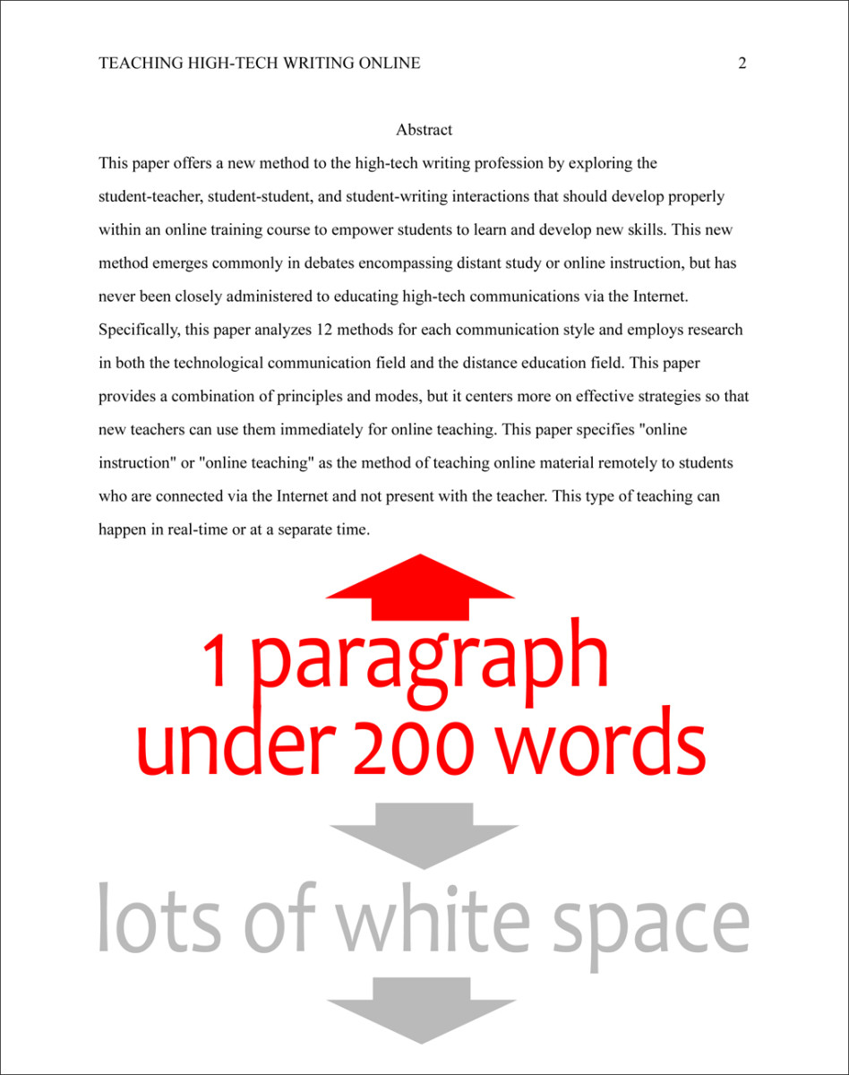 Format The Abstract Page In Apa Style Th Edition  Hubpages