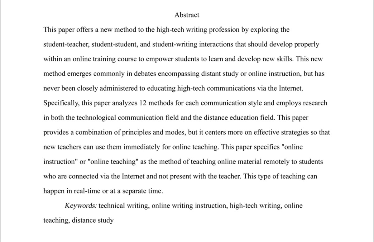 thesis abstract page