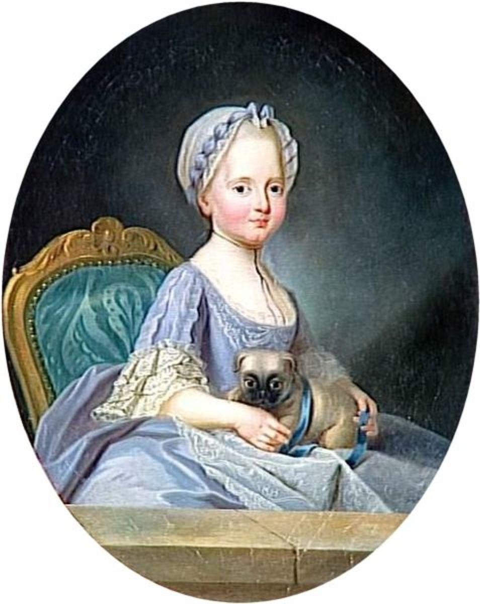 Princess Élisabeth of France as a child.