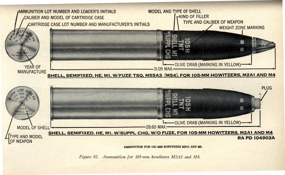 105mm shells