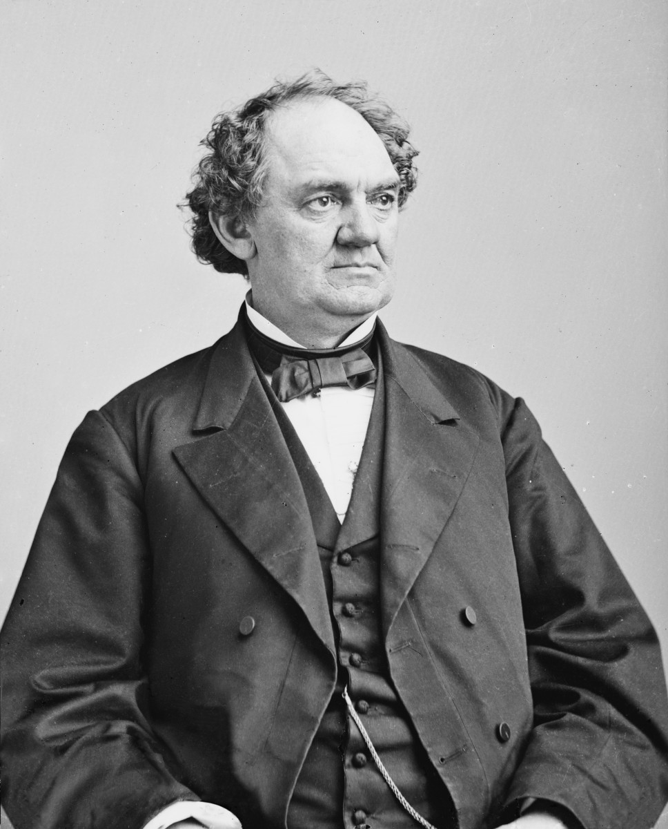 Photograph of P.T. Barnum between 1855 and 1865.
