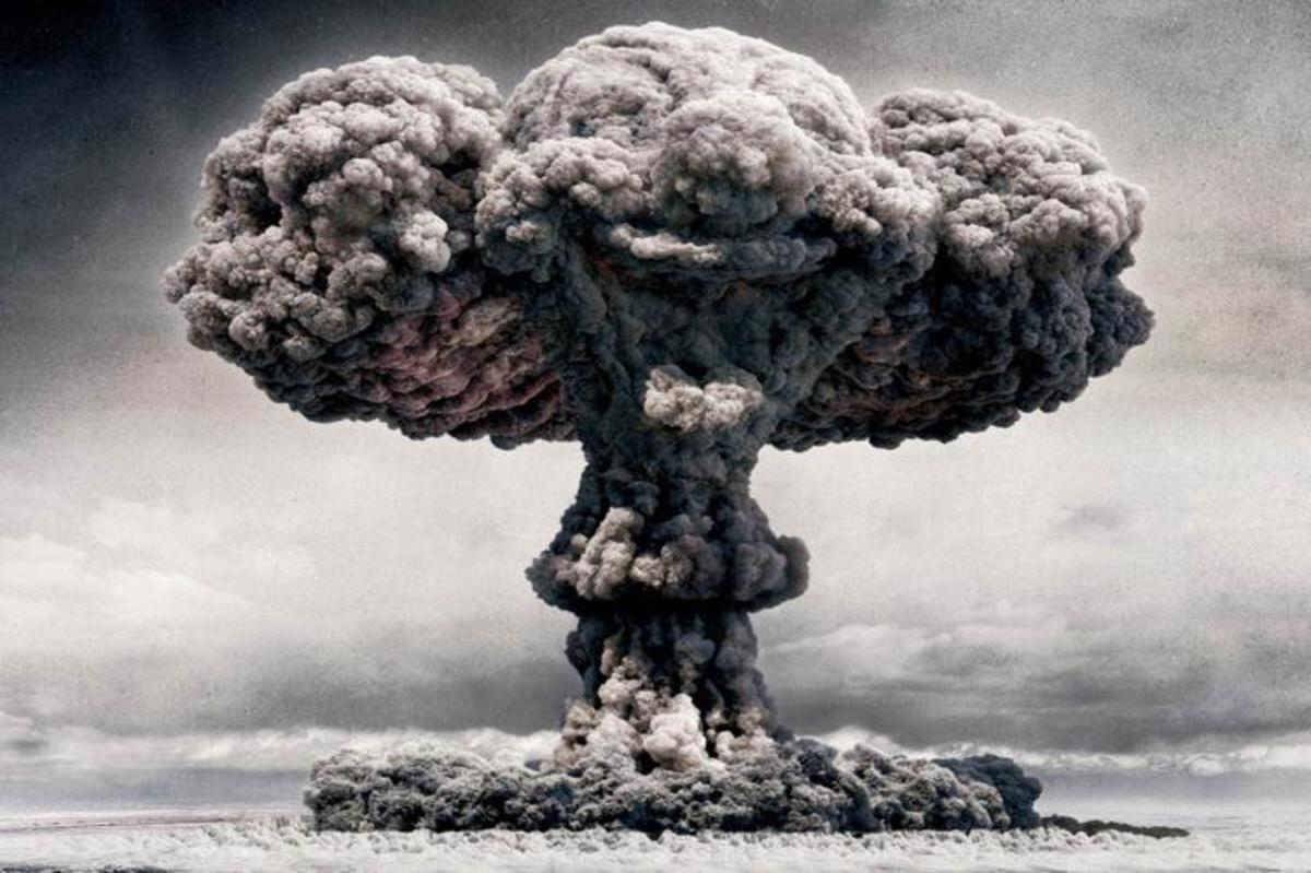 Mushroom clouds like these were sometimes tested within a 50 mile range of allied civilians.