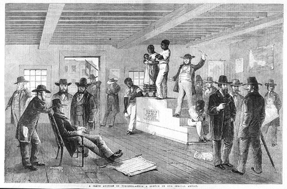 Slave family on the auction block, Richmond, VA, 1861