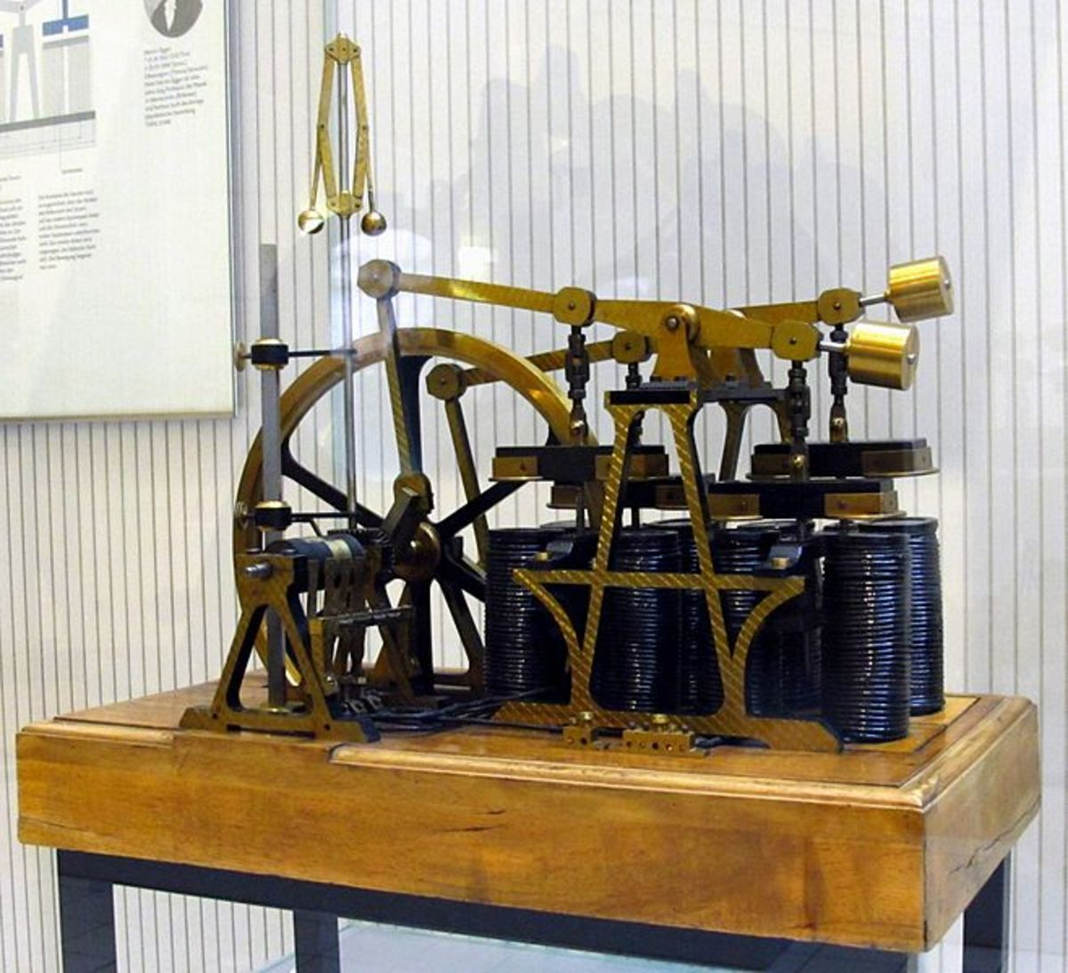 An early electric motor based on the discoveries made by Michael Faraday