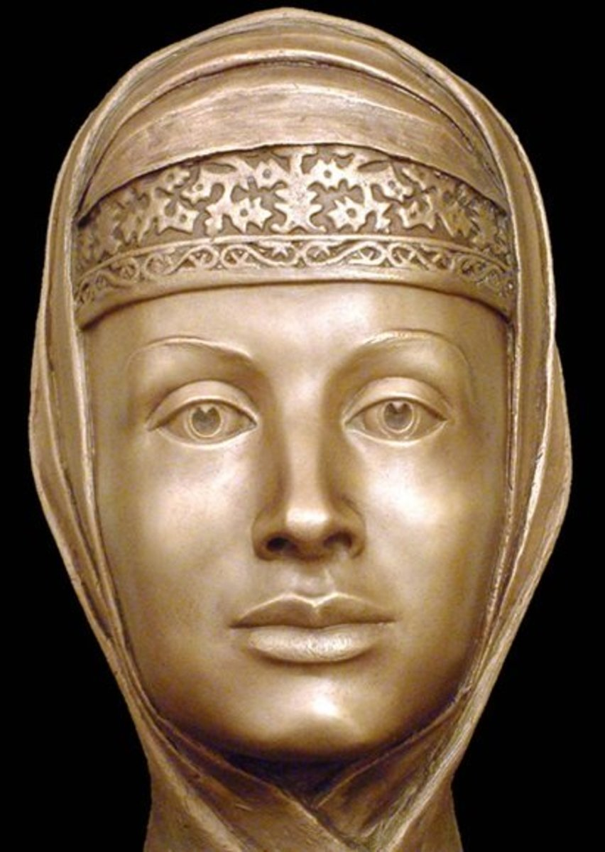 A facial reconstruction of Marfa Sobakina, 3rd wife of Ivan the Terrible.