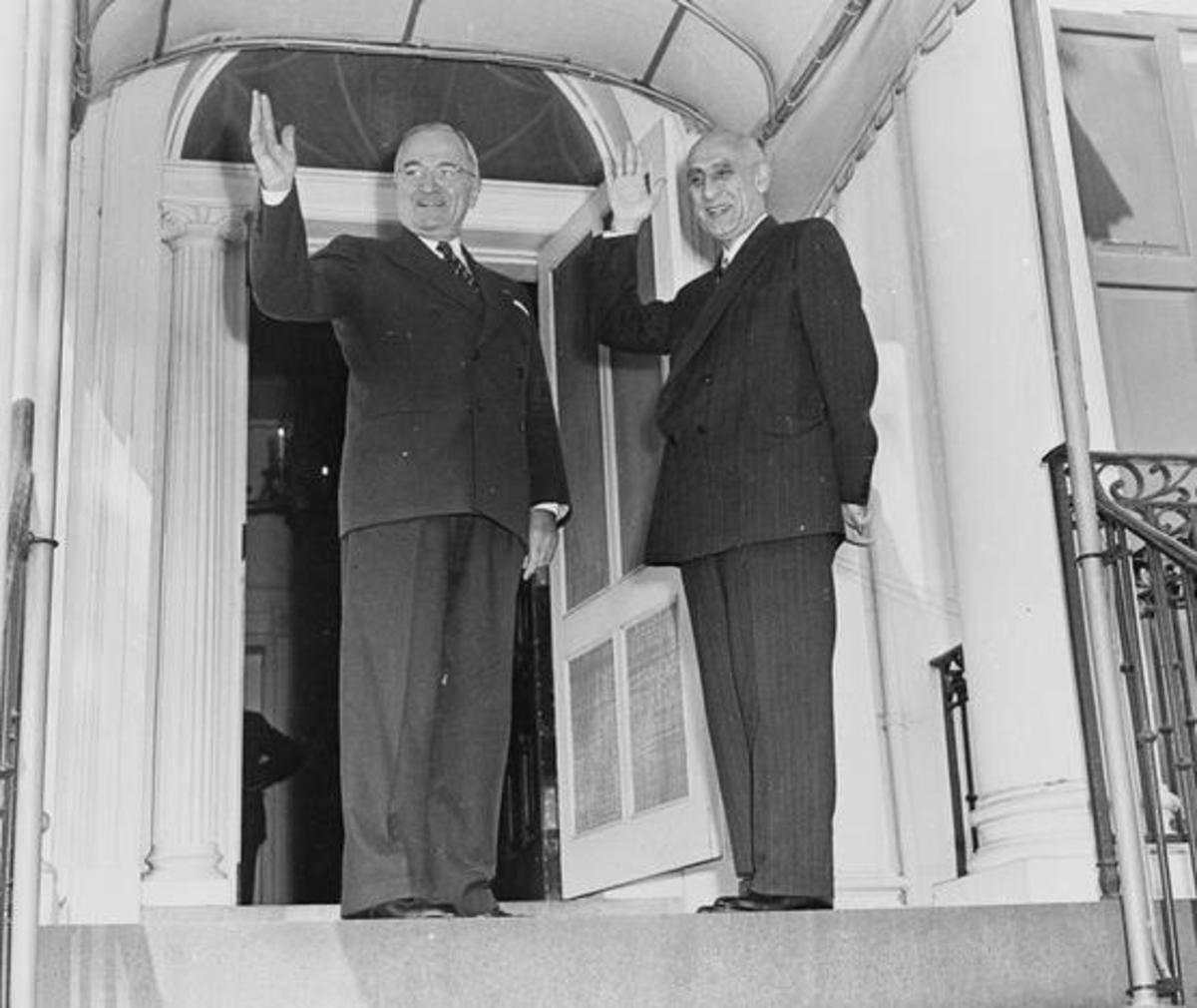 Truman meets Mossadegh, 2 years before the CIA removes him from power in Iran.
