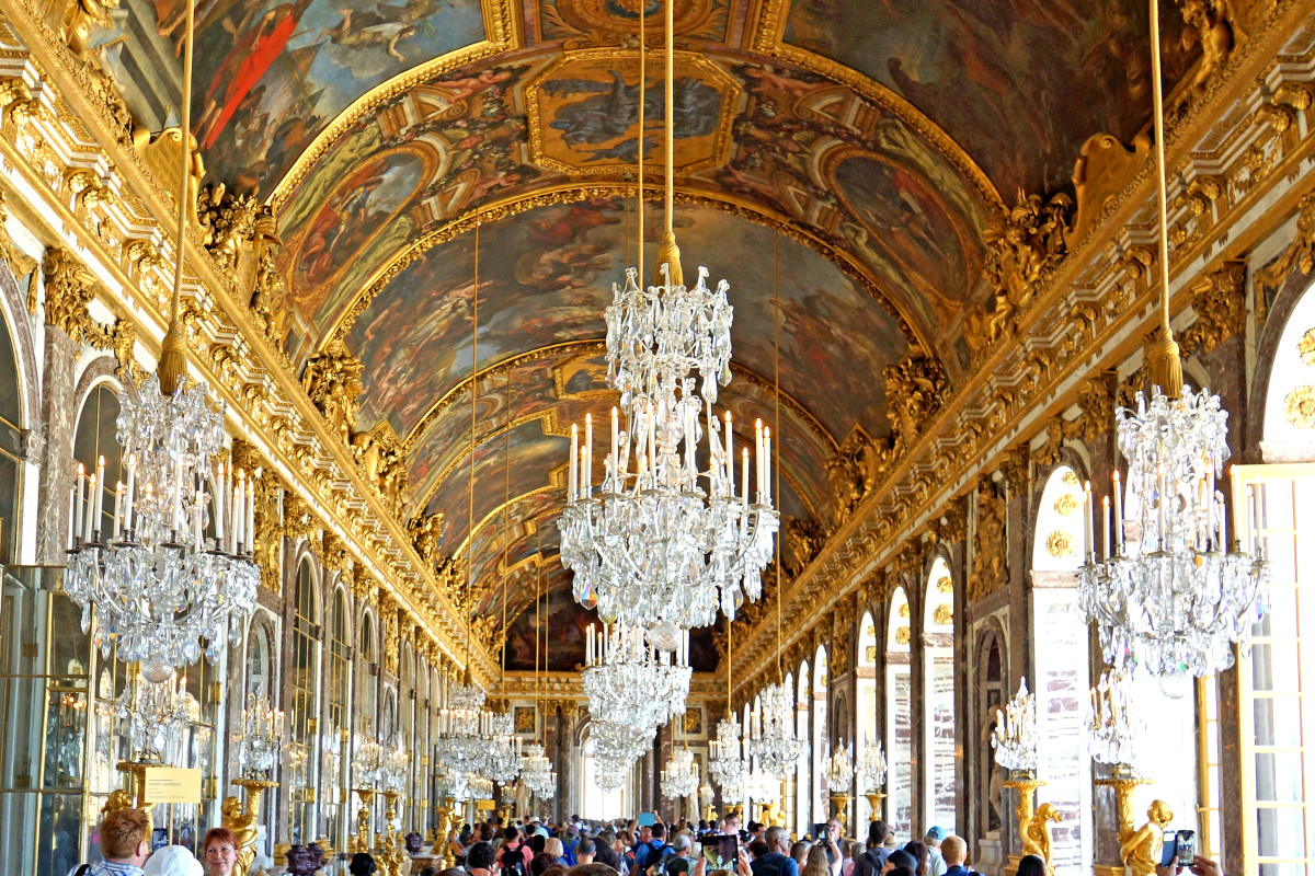 The Original Hall of Mirrors at the Palace of Versailles