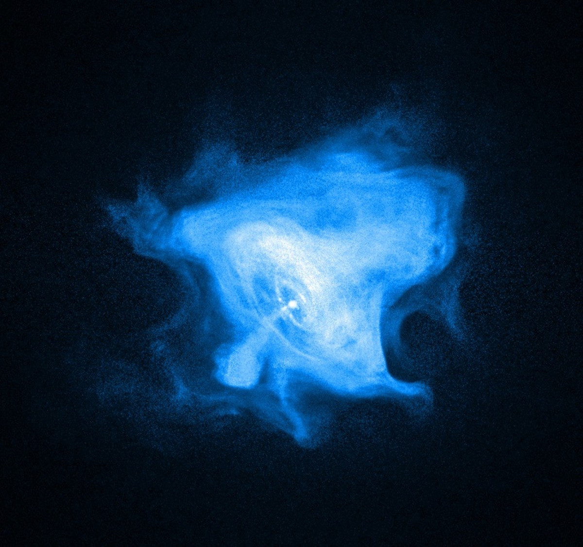 The Crab pulsar; a neutron star at the heart of the Crab Nebula (central bright dot) .