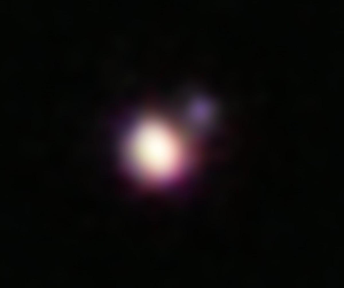 Two tiny brown dwarfs in a binary system.