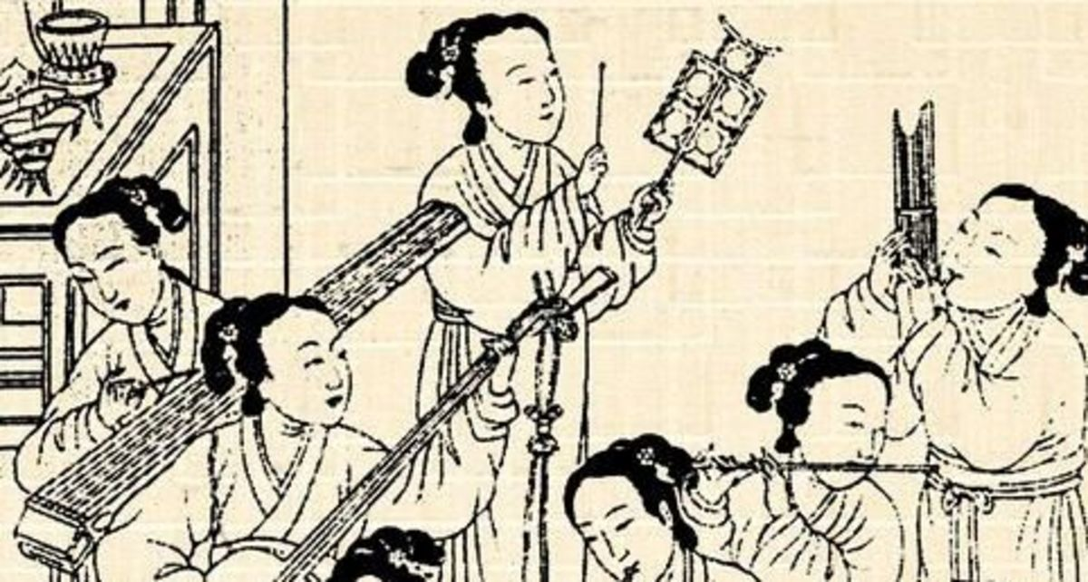 Chinese women in an orchestra