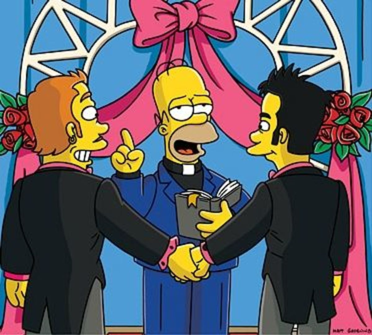 Gay marriage - the Simpson's think it's A-OK.